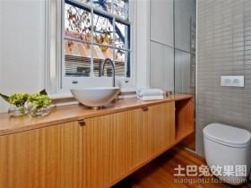 简约清新的美式风格卫生间装修效果图大全2012图片