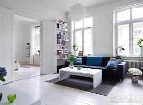 清新简约客厅装修效果图欣赏
