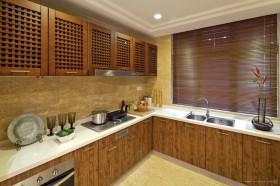 东南亚风格厨房实木橱柜装修效果图片大全
