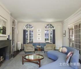 含有欧式元素的地中海风格客厅装修效果图大全2012图片