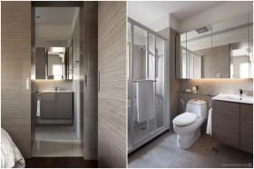 90平小户型现代简约素雅的卫生间装修效果图大全2012图片