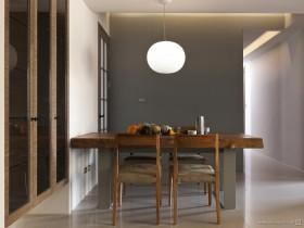 90平小户型现代简约素雅的餐厅装修效果图大全2012图片