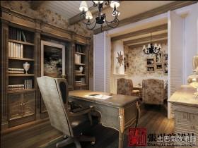 古典美的欧式风格书房装修效果图大全2012图片
