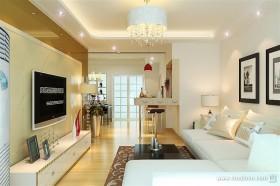 温馨的现代小资客厅装修效果图大全