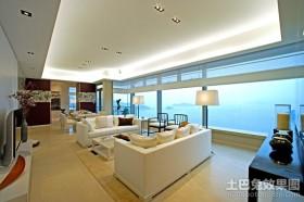 120平米房屋时尚客厅装修效果图