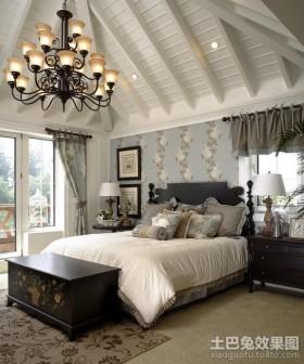 大气温馨的北欧风格卧室装修效果图大全2012图片