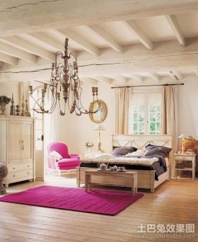 温暖豪华的欧式风格卧室装修效果图