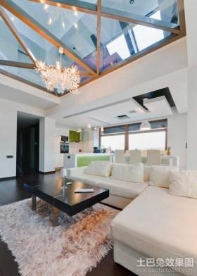 现代时尚的复式客厅装修效果图大全2012图片