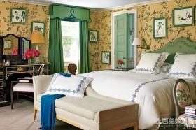 感觉在花的海洋田园风格卧室背景墙装修效果图大全2012图片
