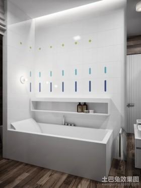 现代简约的卫生间装修效果图大全2012图片