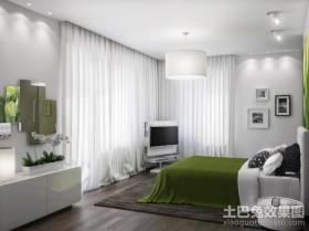 二居室绿色宁谧的卧室装修效果图欣赏