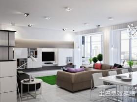 二居室现代客厅背景墙装修效果图大全2012图片