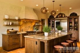 美式风情的厨房装修效果图大全2012图片
