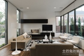 两房两厅白色极简的客厅装修效果图大全2012图片