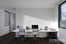 两房两厅白色极简的书房装修效果图大全2012图片
