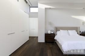 两房两厅白色极简的卧室装修效果图大全2012图片