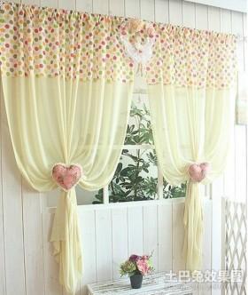 韩式田园风格装修窗帘效果图