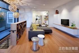 现代时尚复式楼客厅装修效果图大全2012图片