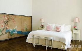 含有中式元素的田园风格卧室装修效果图大全2012图片