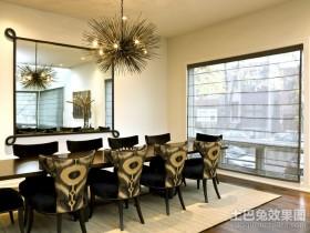 黑白经典的搭配餐厅装修效果图大全2012图片