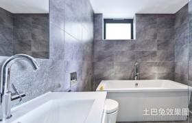 极简的白色现代风格卫生间装修效果图大全2012图片