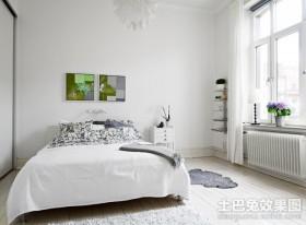 50平米蓝白清新的公寓小卧室装修效果图大全2012图片