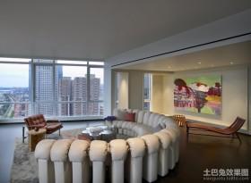 创意现代风格四居室客厅装修效果图大全2012图片