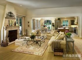 田园浪漫的欧式客厅装修效果图大全2012图片