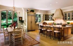 田园浪漫的欧式厨房装修效果图大全2012图片
