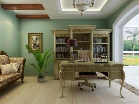 BLUE SKY 欧式书房装效果图大全2012图片