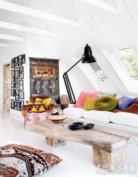 北欧清新的小户型客厅装修效果图大全2012图片