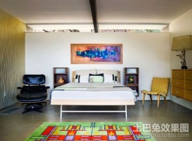50平米小户型现代简约卧室装修效果图大全2012图片