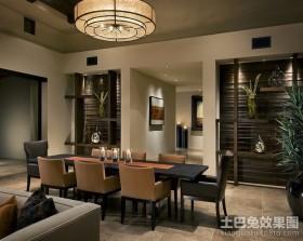 四居室美式经典的餐厅吊顶装修效果图大全2012图片
