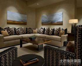 四居室美式经典的客厅沙发背景墙装修效果图大全2012图片