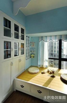 客厅飘窗榻榻米装修效果图 收纳柜装修设计