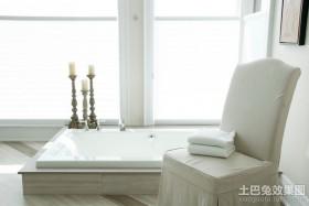 白白的简约元素的北欧风格装修图片