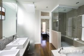 三室两厅简约现代风格卫生间装修效果图大全2012图片