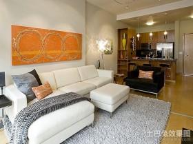 80平米小户型简约现代客厅装修效果图