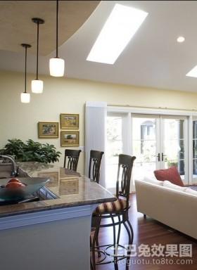 三室两厅欧式厨房装修效果图大全2012图片