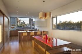 120平米三房二厅厨房装修图片