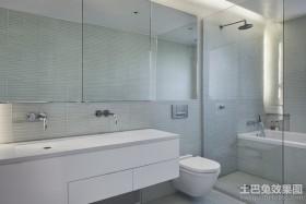 120平三房两厅简约卫生间装修效果图
