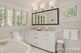 110平米两室两厅简欧卫生间装修效果图