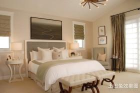 130平米三室两厅两卫欧式卧室装修效果图