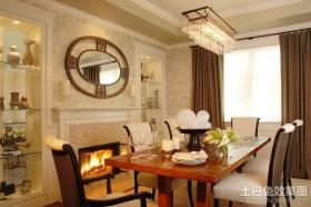 130平米三室两厅两卫欧式餐厅装修效果图