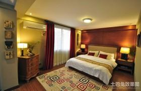 中式现代卧室装修效果图