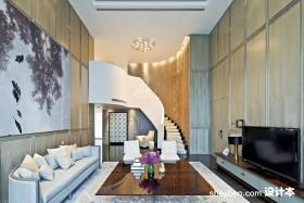 现代简约复式楼客厅装修效果图欣赏
