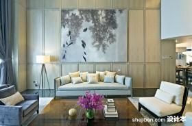 现代简约客厅装修效果图大全2013