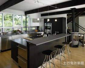 两室两厅现代厨房装修效果图