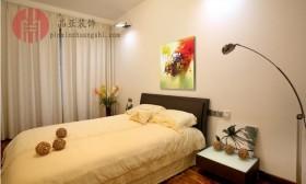现代简约风格卧室窗帘装修效果图片