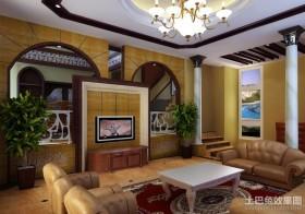 现代风格客厅装修背景墙